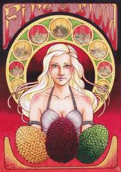 Daenerys Art Nouveau Gold by KiWWyke