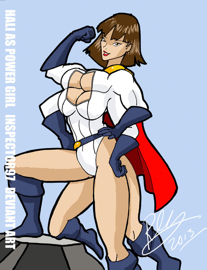 Hali as Power Girl by Inspector97