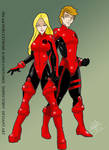 Jim and Dori Extreme X-Men Costumes by Inspector97