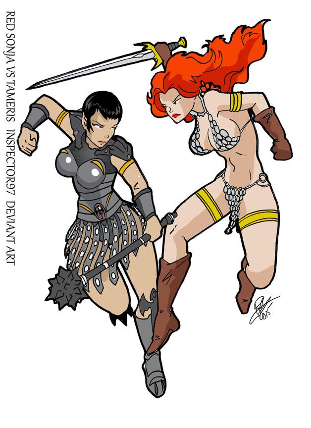 Sonja vs Tameris by Inspector97