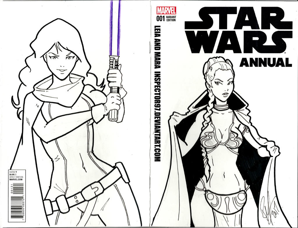 Leia and Mara Star Wars Cover by Inspector97