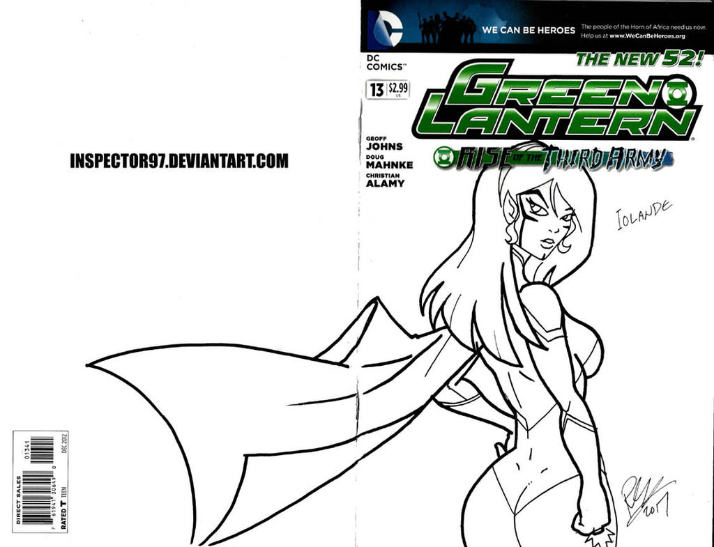 Iolande Green Lantern Cover by Inspector97