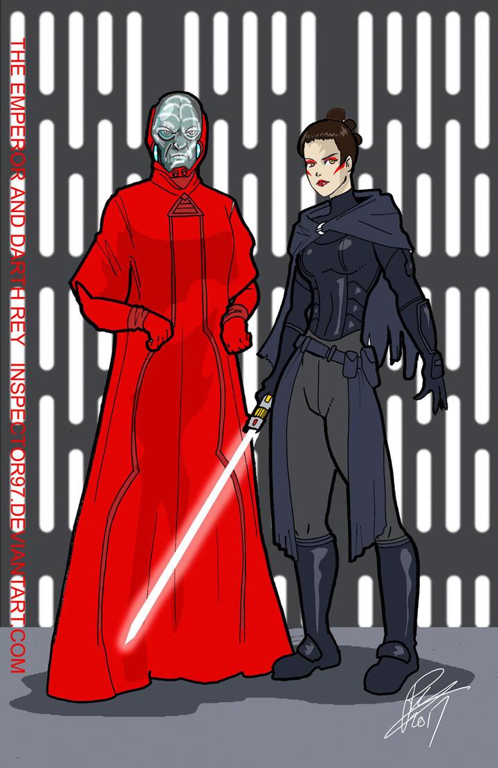 Battlefront II Emperor and Dark Rey by Inspector97