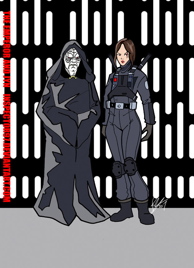 The Emperor and Jyn by Inspector97