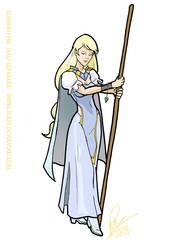 Elinwih Fyre Half Elf Cleric by Inspector97