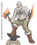 Dryden Half Orc Barbarian by Inspector97