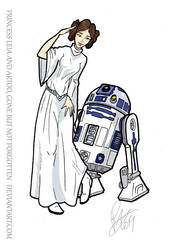 Leia and Artoo, Gone but not Forgotten by Inspector97
