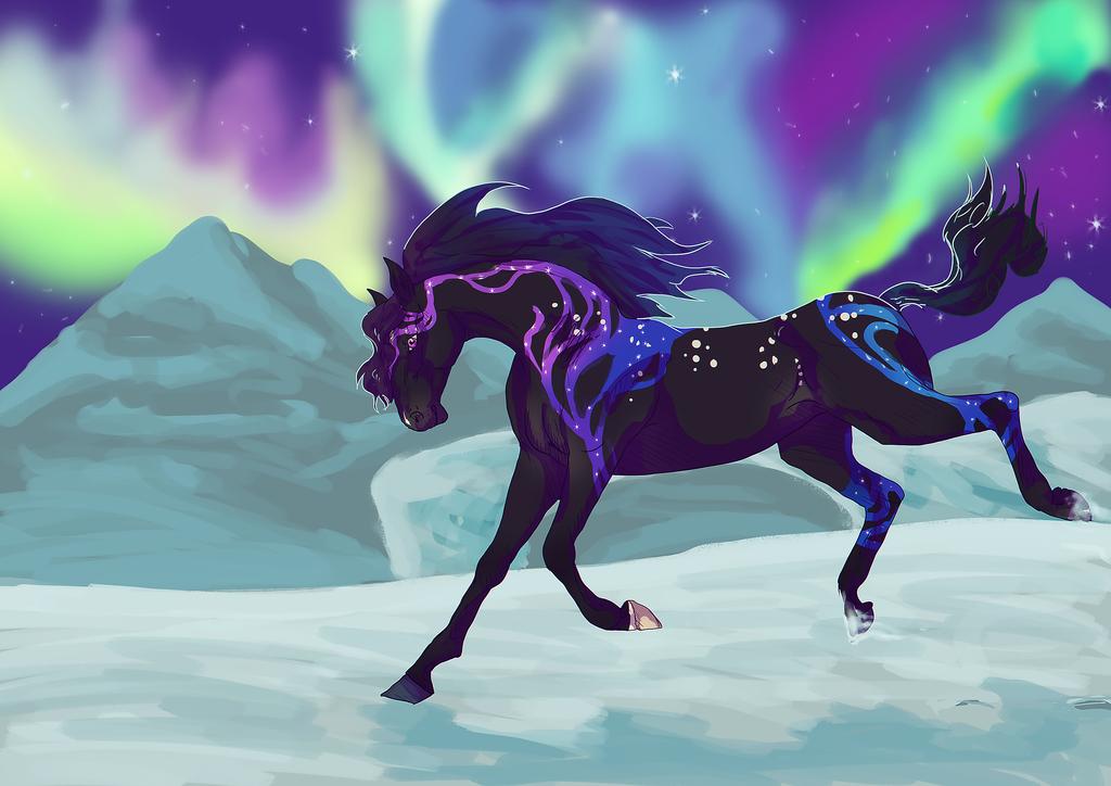 how to draw aurora borealis