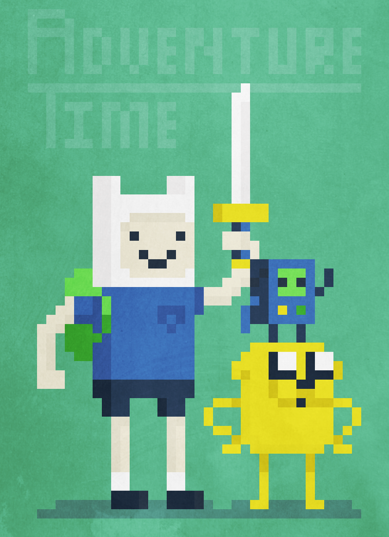 Adventure Time Pixel Art by TheCongressman1