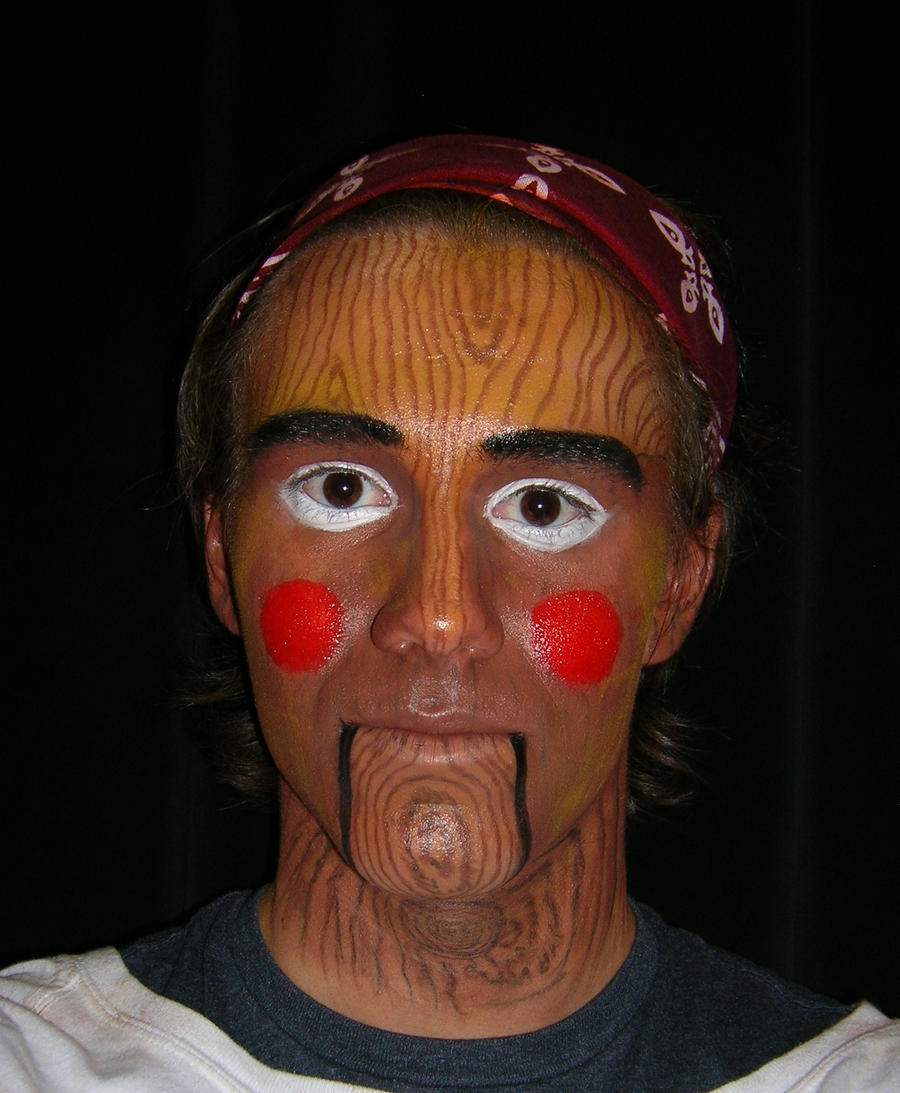 Pinocchio Theatrical Makeup By