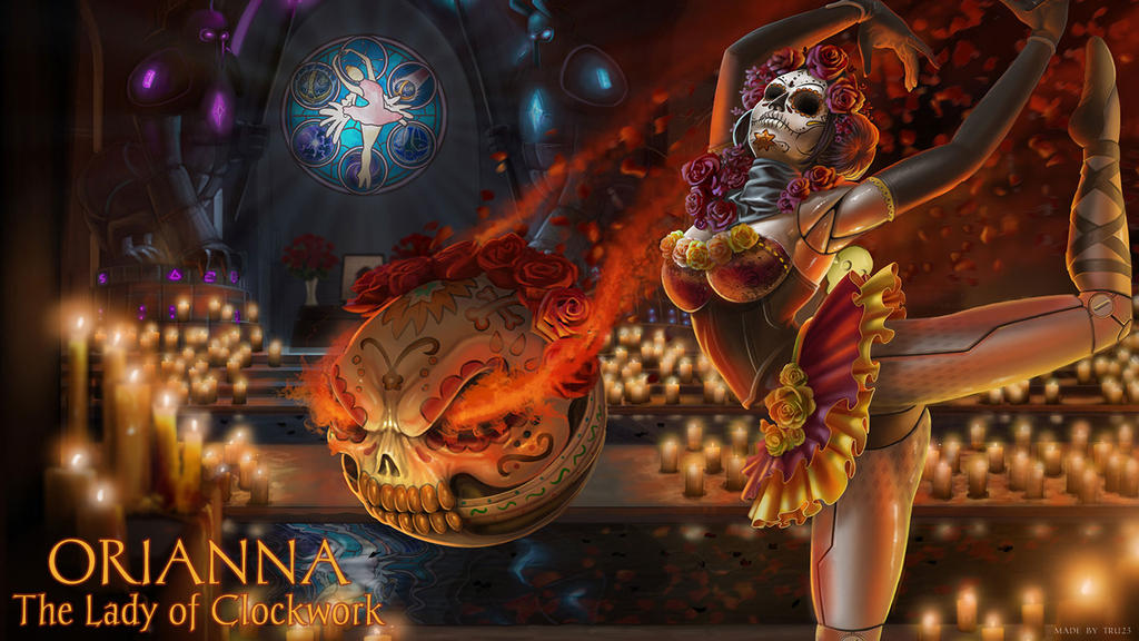 La Calavera Catrina Orianna wallpaper by tru23 on DeviantArt Orianna Splash Art