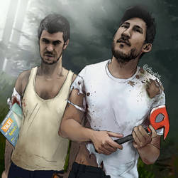 Markiplier and JackSepticEye (The Forest)
