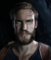 PewDiePie as Nathan Drake - portrait (Uncharted 4)