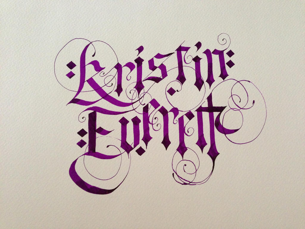 Gothic script my name by everlastinglace on deviantart My name in calligraphy