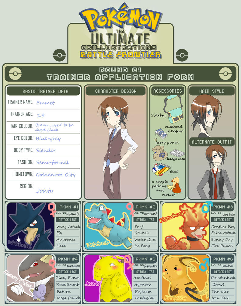 UBF - Emmet Trainer Sheet by riceballhikaru