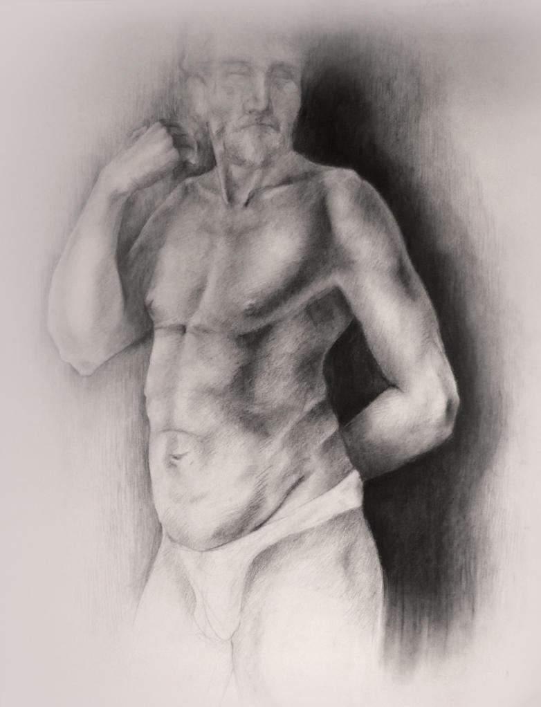 Male torso by wAnnw