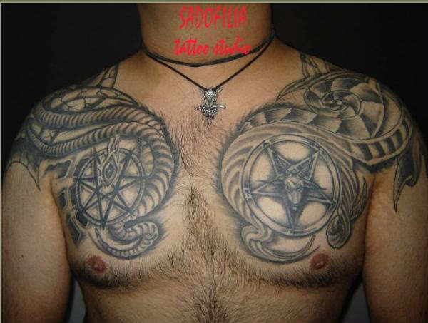 my chest tattoo - chest tattoo