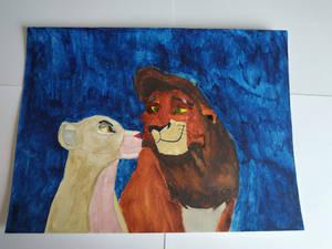 Kiara and Kovu from The Lion King 2