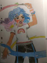 Rainbow girl to celebrate 20 years of DeviantArt