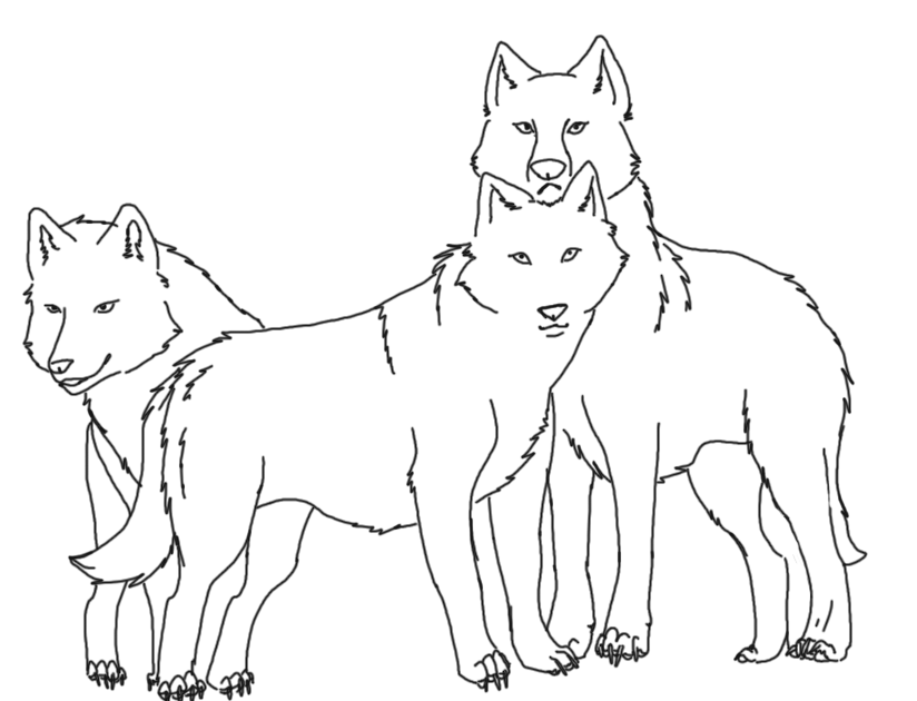 wolf pack line art by xmarlyx on deviantart