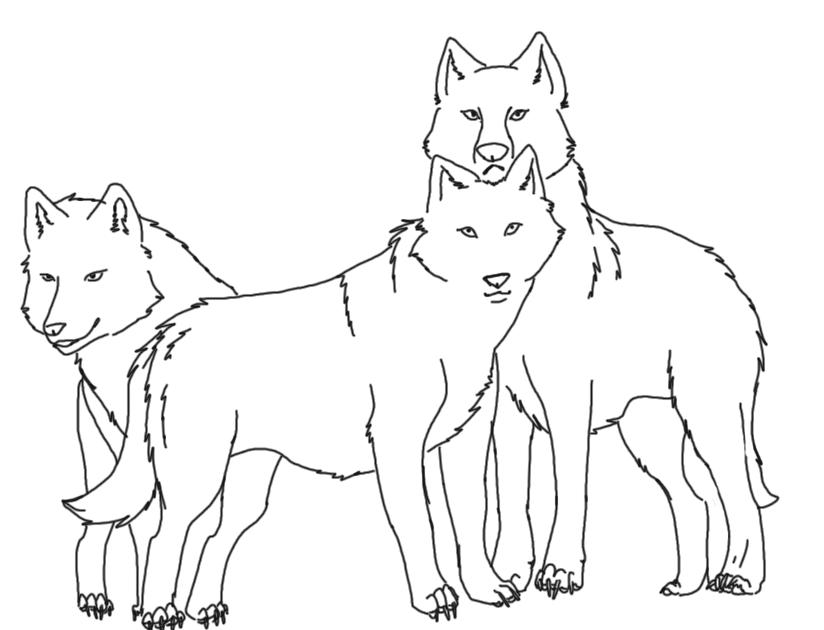 Wolf Pack Line Art By XMARLYx On DeviantArt