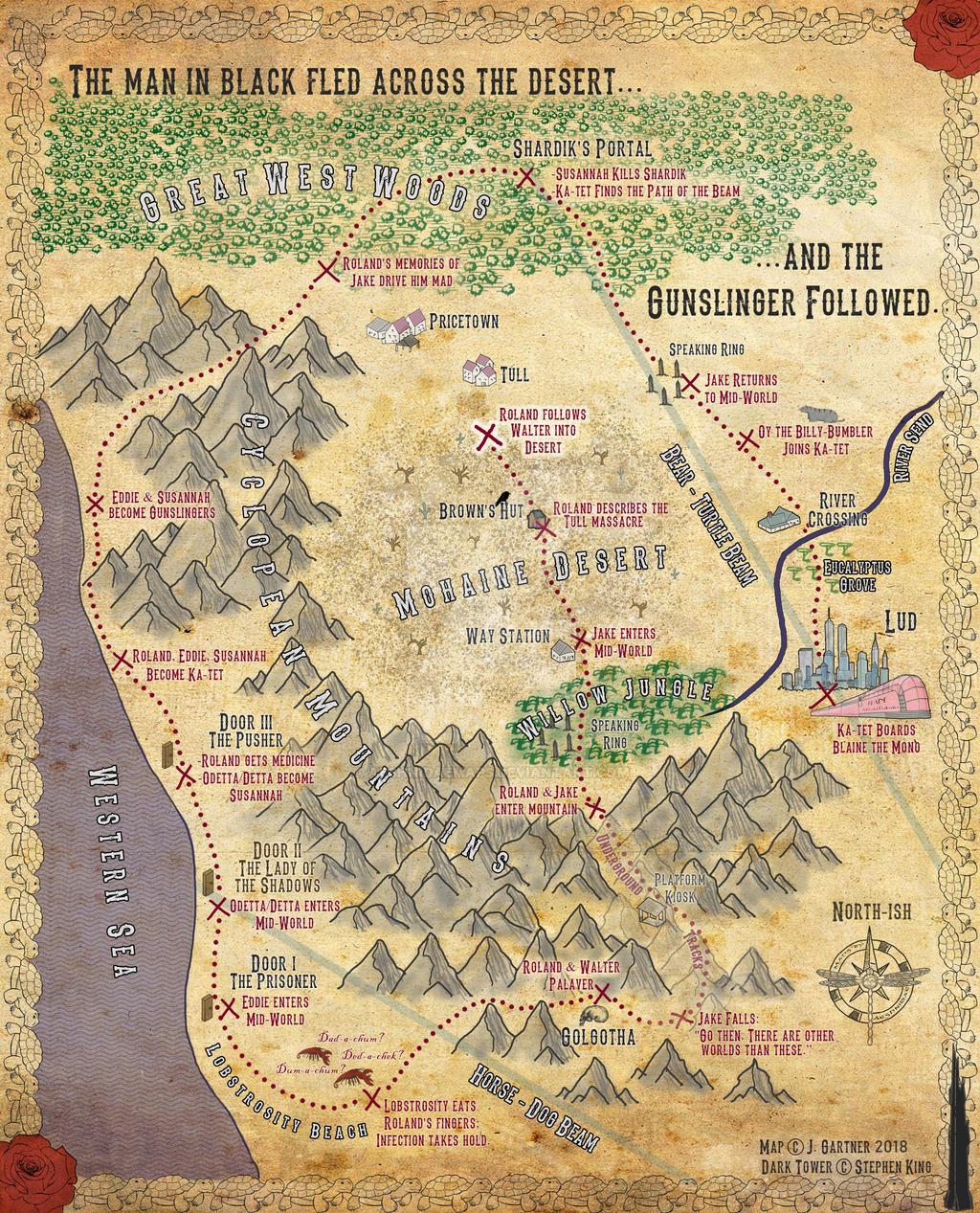 Dark Tower Roland S Journey By Aeshnidaemaps On Deviantart