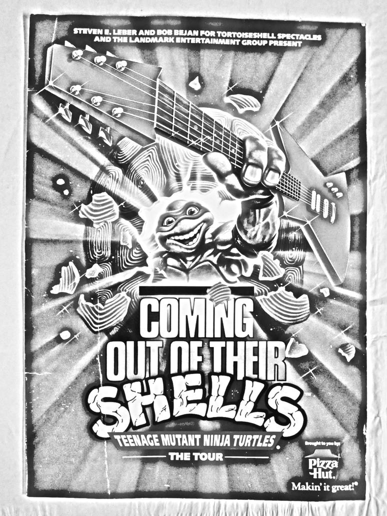 Coming Out Of Their Shells Tour Poster Bw by michaelaw1