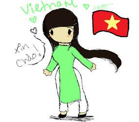 chibi Vietnam by ezioauditore115