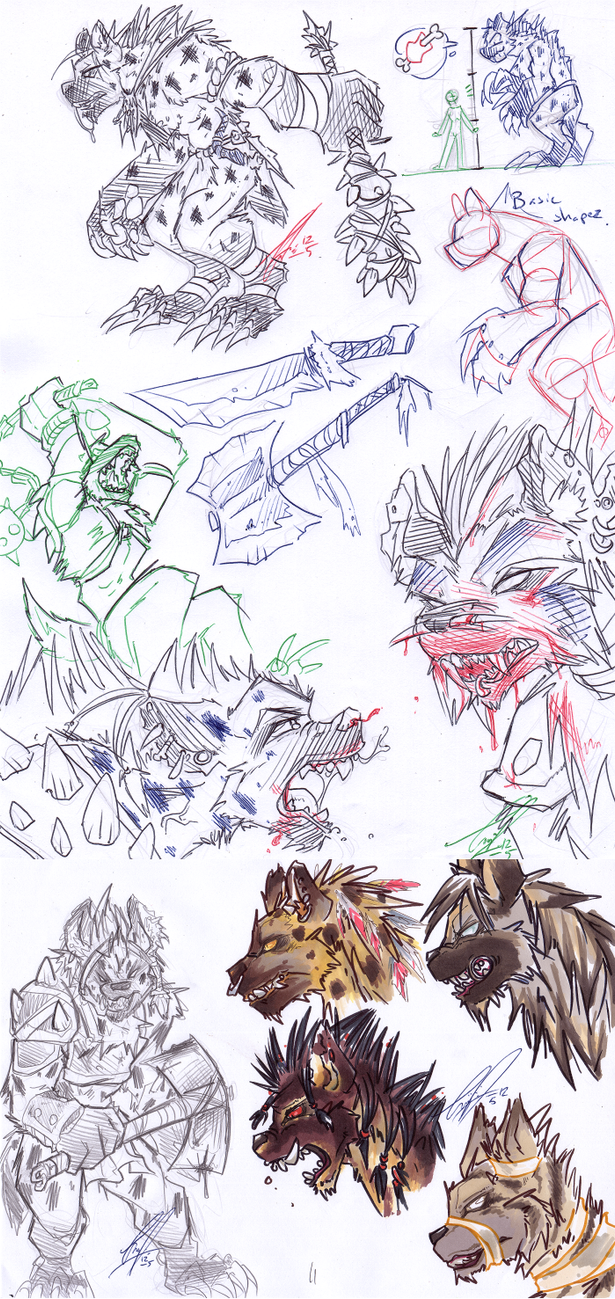 COM: Grollz Sketch Pages by carnival