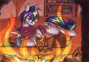 COM: Triptych FireSide by carnival
