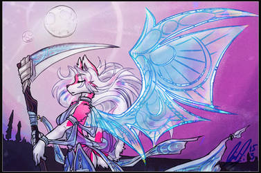 Pink Stained Moon by carnival