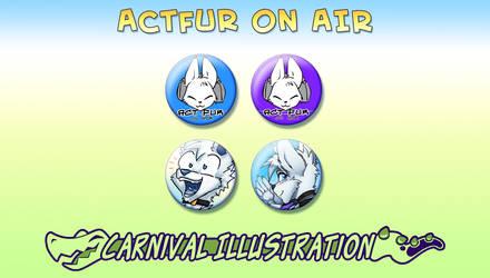 Pin Badges: ActFur on Air retro-set! by carnival