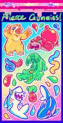 Fierce Gummies Sticker Sheet! by carnival