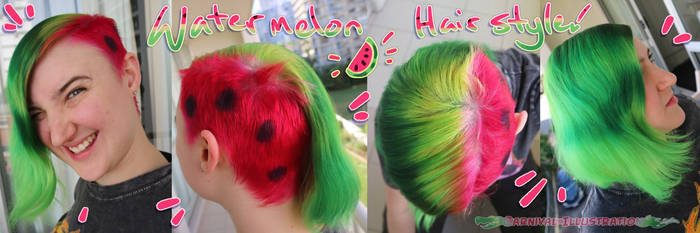 HairDye: Watermelon Hair!