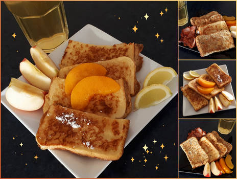 'French Toast 2 Ways' [Vegetarian: Omniv Optional]