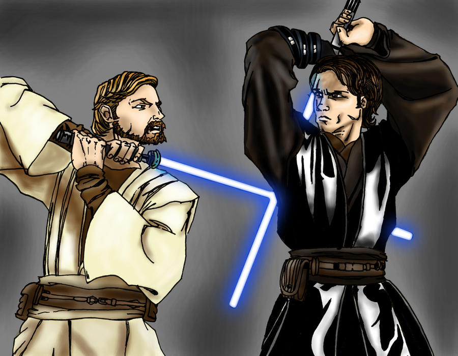 Star wars anakin vs obi wan by dartbaston