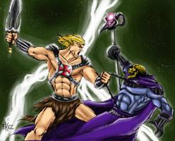 He-man vs Skeletor by Fikus by dartbaston