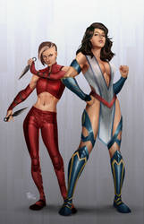 Fury and Justice Girl redesign by dartbaston