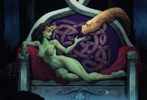 Chalthrae, Goddess of Chaos and Power by dartbaston