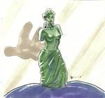 Inktober Day 22: Gummi Venus de Milo