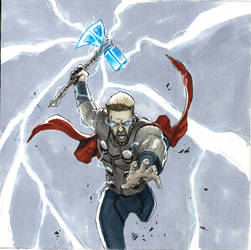Inktober Day 27: God of Thunder