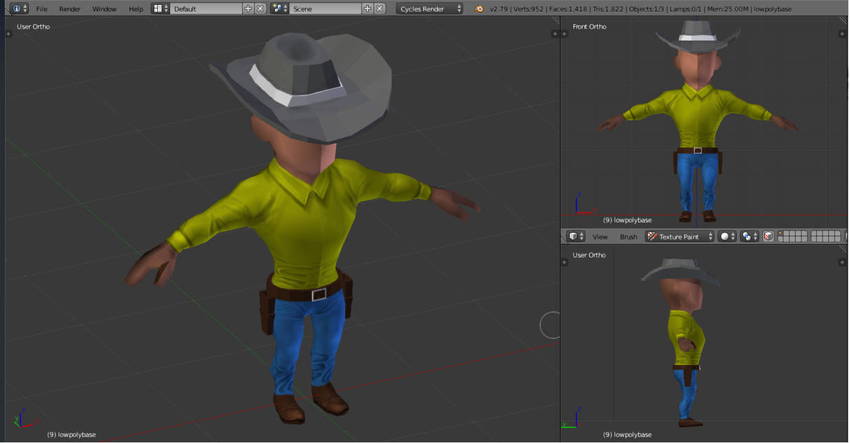 Lowpoly Cowboy Color by vxss57