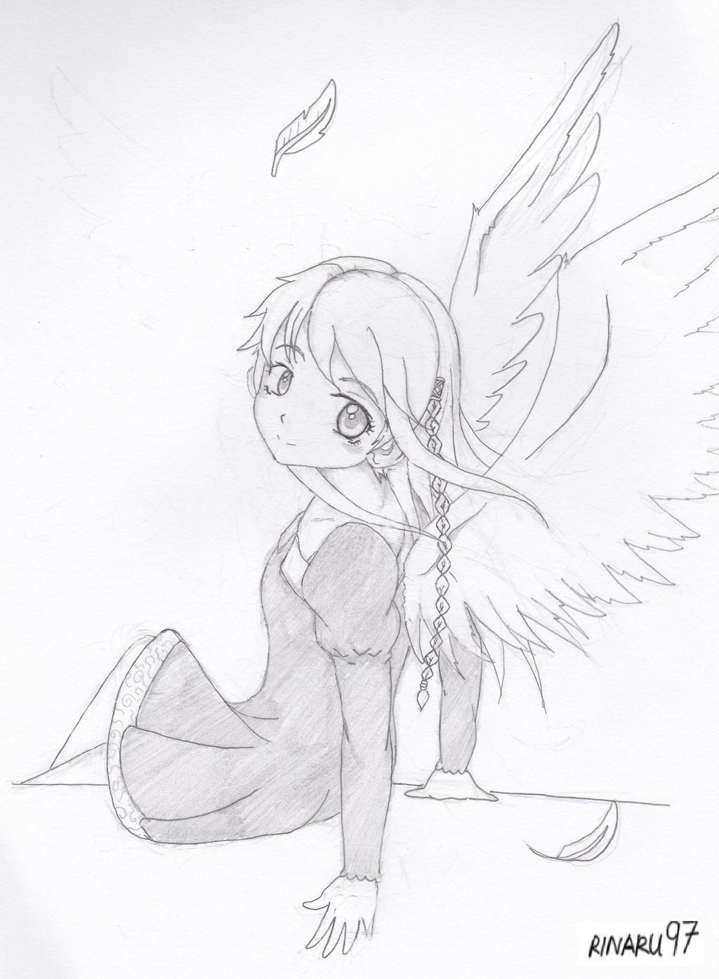 Anime Girl With Wings (Akiyama Naomi 1) By RiNaru97 On DeviantArt