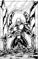 Red Lantern inks by adampedrone8
