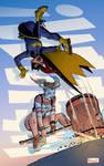 Batgirl Vs. Harley Quinn by adampedrone8