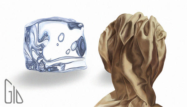 Material Studies: Ice and fabric by GioPinna
