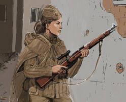 girl sniper