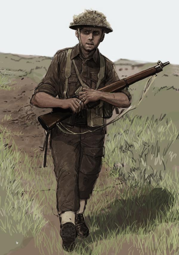 canadian rifleman- 1944 by JesusFood