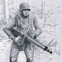 german machine gunner ww1 by JesusFood