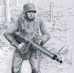 german machine gunner ww1